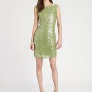 Alice + Olivia Green Sequin Dress Sz 4